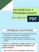 Variableas Aleatorias y Dist Probabilidades
