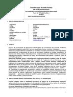 IN0504 Investigación Operativa (2)