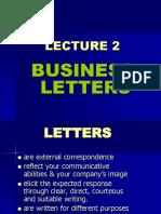 Lec 2 Business Letters