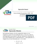 Sesión8.1 Operacíon Binaria