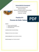 Practica # 4 Procesos de Oxido Reduccion