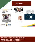 Anexo 1 – Presentación AA – Verificación de Aprendizajes – Caracterización Lectora. PERSONALIZADAS