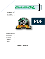 Modelo 11 de Caratula Udabol Diseño