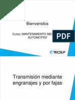 Transmisión Mediante Engranajes y Por Fajas Mayo 2018