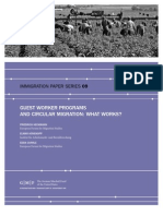 Guest Worker Programs and Circular Migration