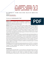 Análisis de Los Resultados Clínicos de Los Antimicrobianos Sistémicos Combinados Con El Tratamiento Periodontal No Quirúrgico de La Periodontitis Agresiva Generalizada