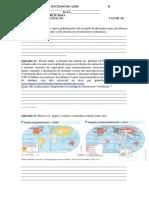 Atividade Avaliativa Geografia  3º Ano Ensino Médio