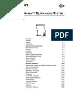 Acuson Aspen - Verifying Aspen™ Ultrasound System