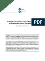 Analisis Geoestadistico Espacio Tiempo Basado en Distancias y Splines Con Aplicaciones