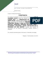 Constancia de Trabajo de Edgar Paredes