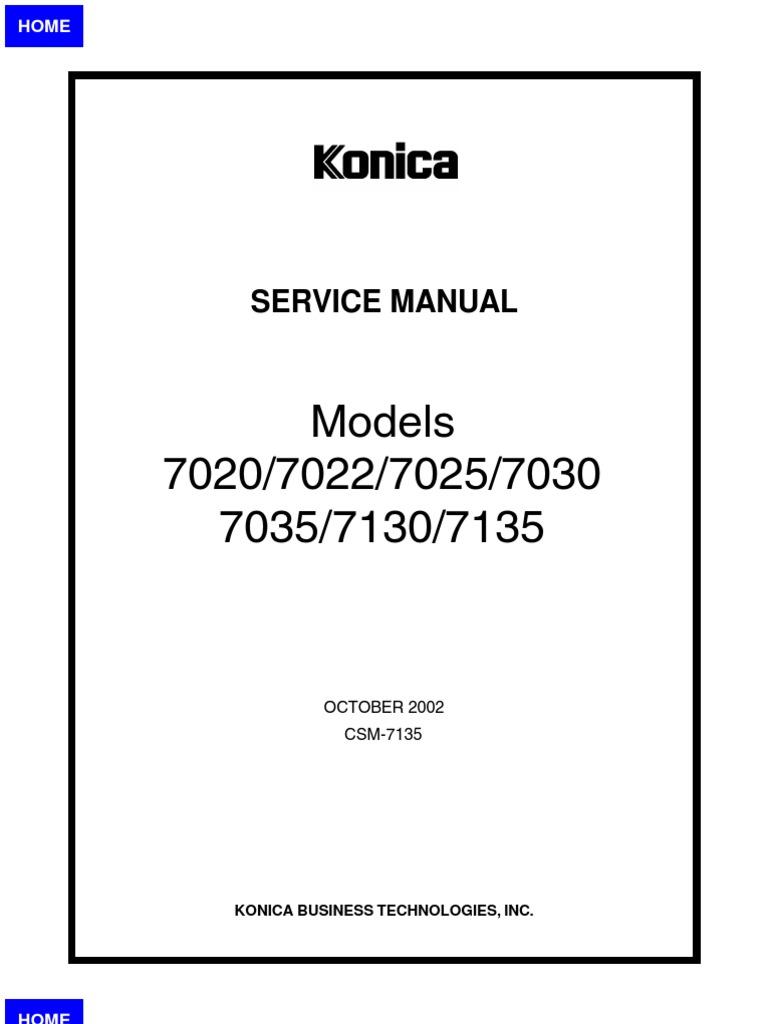 konica 7022 service manual