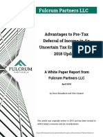 Advantages to Pre-Tax Deferral of Income in An Uncertain Tax Environment