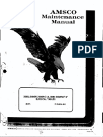 Amsco 2030 Surgical Table - Maintenance Manual