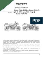 Street Triple Range Owners Handbook En