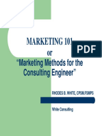 Marketing Methods for the Consulting Engineer