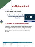 Derivada funciones algebraicas
