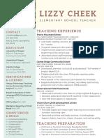 teacher professional resume 1