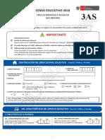 Cedula 3AS Censo Educativo 2018