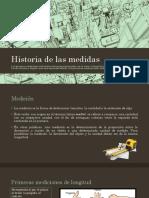 Historia de Las Medidas