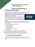 Teste Dos Componentes Das Lavadoras Brastemp e Consul Eletrônica