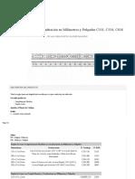 Regla de Acero Con Graduacion en Milimetros y Pulgadas C331 C334 C636