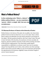 What is Political History_ _ History Today