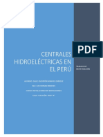 Centrales Hidroeléctricas en El Perú