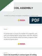 Core Coil Assembly   Toroidal Core