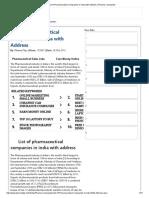 List of Pharmaceutical Companies in India With Address _ Pharma Companies