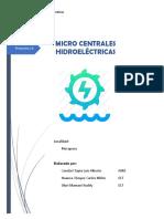 Estimación potencia Micro Central Hidroeléctrica