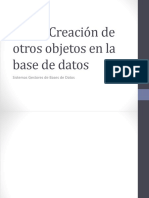 Creación de Otros Objetos de La Base de Datos