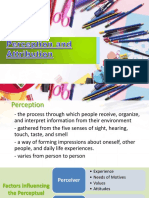 Chapter 4 - Perception and Attribution