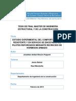 Rincon Puigvert, Estudio Experimental de Encepados Reforzados Mediante Recrecidos de Hormigón Armado
