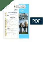 Modelo de Excel Para Diseño de Obras