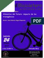 """En el Bicicletero del CRAI... presentación del libro """"Alimentos del futuro"""