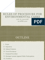 Rules of Procedure in Environmental Cases