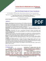 urine inkontinensia post partum