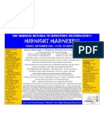 Featured events at tonight's Westminster Fallfest Midnight Madness
