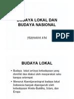 Budaya Lokal Dan Budaya Nasional