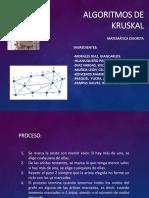 Algoritmos de Kruskal