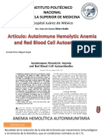 Anemia Hemolitica Autoinmune