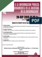 """Jornada """"acceso a la información publica como herramienta en la Sociedad de la Información"""""""