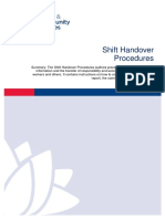 Shift Handover Procedures