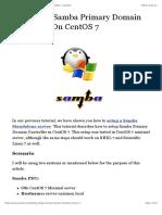 Setting Up Samba Primary Domain Controller On CentOS 7 | Unixmen