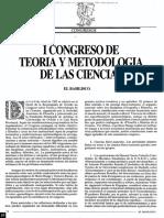 1983 - I Congreso de Teoría y Metodología de Las Ciencias. El Basilisco Número 14 (1982-1983)