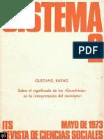1974 - Gustavo Bueno - Los Grundrisse de Marx y La Filosofía Del Espíritu Objetivo de Hegel, Sistema, Enero 1974