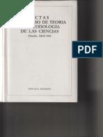 1982 - Actas I Congreso de Teoría y Metodología de Las Ciencias