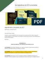 Dizerodireito.com.Br-Principais Novidades Legislativas de 2016 Comentadas