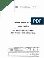 Demister Pad Documents