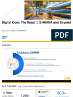 Digital Core-The Road to S4HANA and Beyond